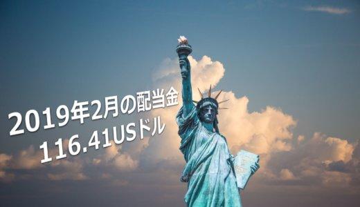 【不労所得報告】米国株配当金は116.41USドルでした!【2019年2月】
