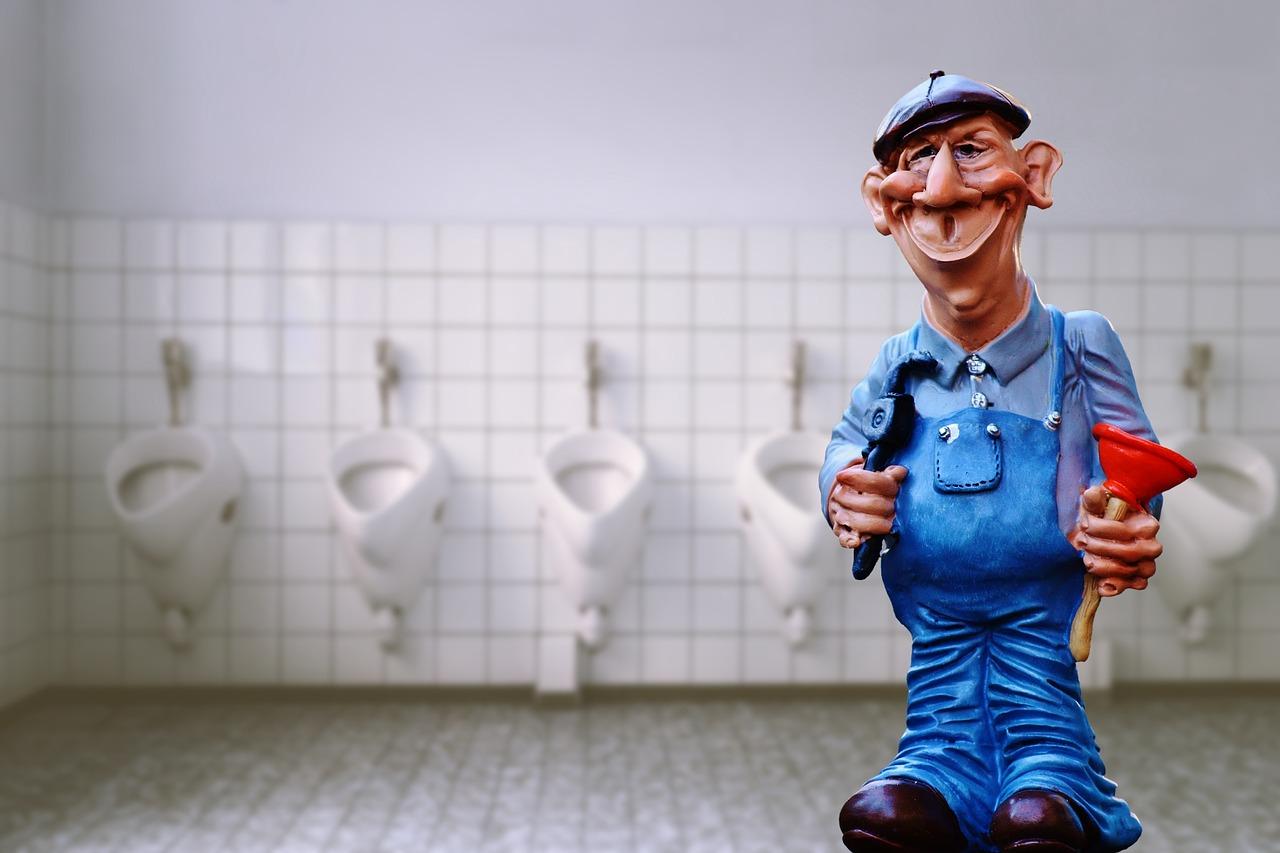 トイレ掃除のおじさん